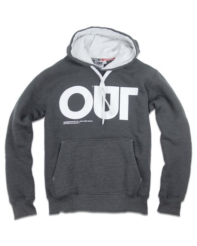 "Bluza z kapturem ""OUT"" grafit"