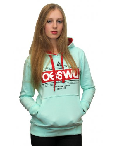 "Damska Bluza Kangurka OUTSIDEWEAR ""OESWU"" kolor ""Mint Light"""