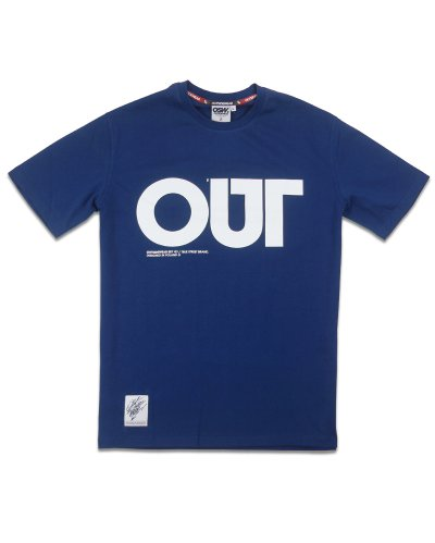 "T-shirt ""OUT"" granat"