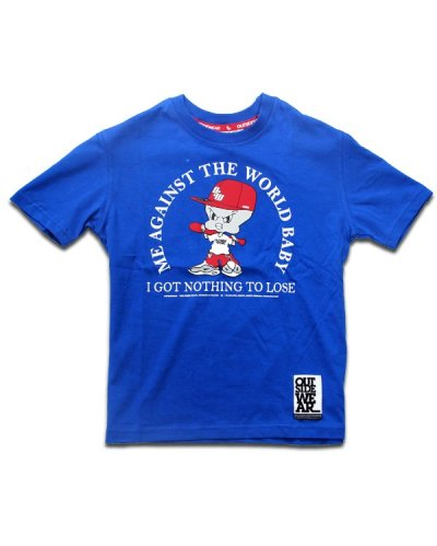"T-shirt OUTSIDEWEAR 4kids ""Against"" niebieski"
