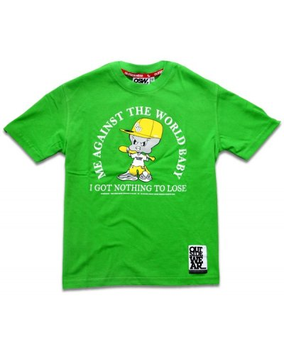 "T-shirt OUTSIDEWEAR 4kids ""Against"" zielony"