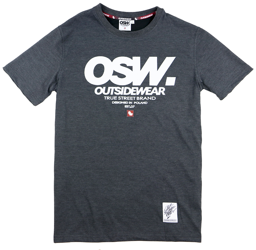 "T-shirt (SL) ""OSW-Base"" grafit"