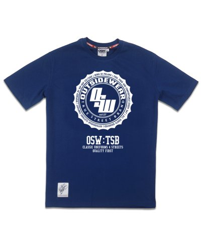 "T-shirt ""Stamp"" granat"