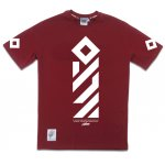"T-shirt ""Vertical"" bordowy"